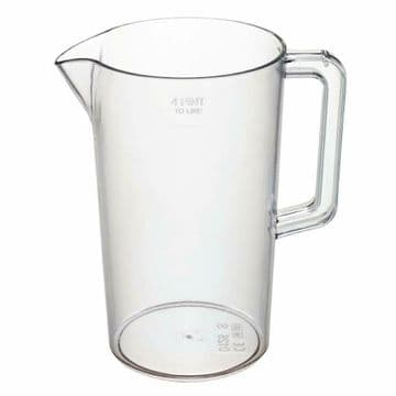 Beer Jug 4-Pint 2.3Ltr 235x135mm Clear Plastic Pitcher Bar Restaurant Catering